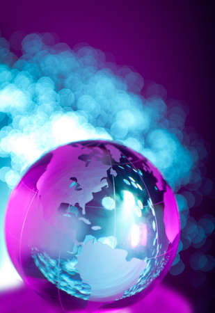 Fiber optical cables by glass globe