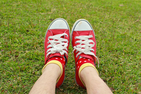 children s feet: Red Shoes