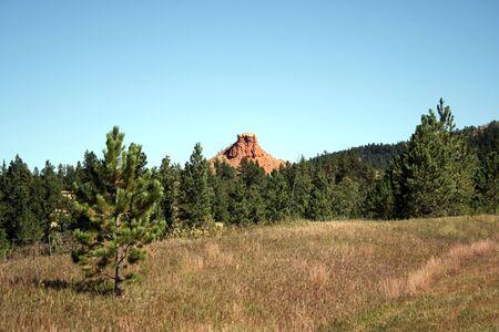 butte: Butte near Salt Creek in eastern Wyoming Stock Photo