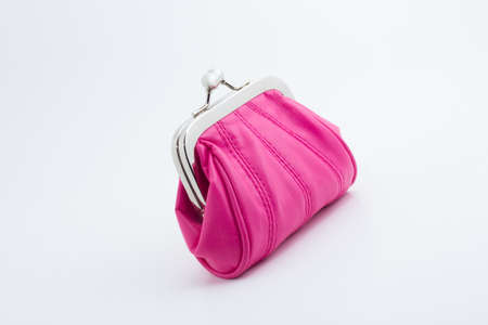 Small pink clutch purse