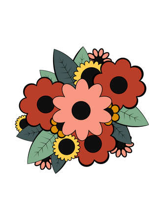 illustration of a small bouquet of flowers