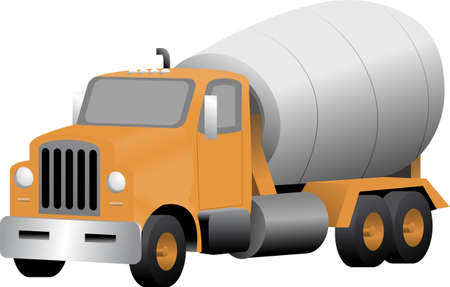 Vector illustration of a cement truck  Vector