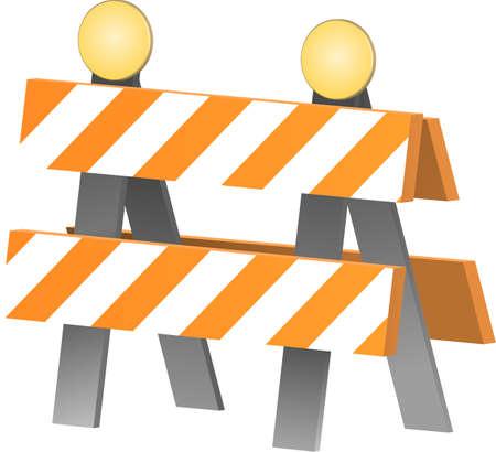 Vector illustration of a construction barricade