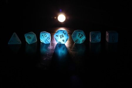 Blacklit Polyhedral Dice Set
