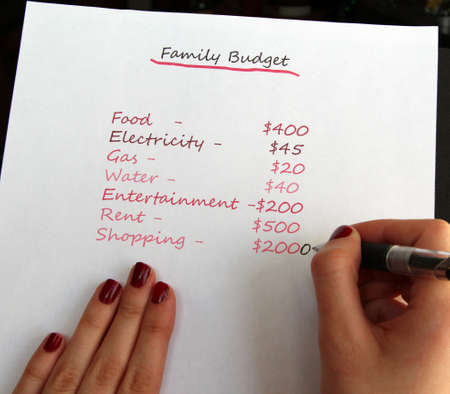 Family Budget Planning Stock Photo - 13933391
