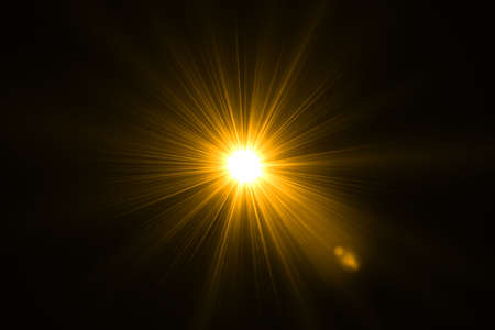 abstract of sun with flare. natural background with lights and sunshine wallpaper Stock Photo