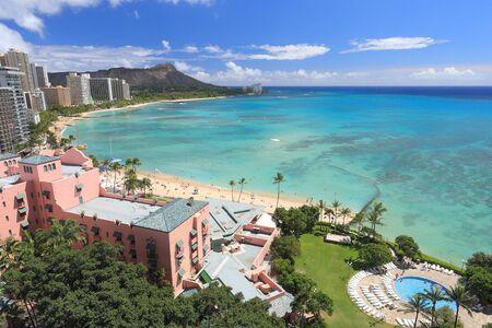Waikiki beach, Honolulu. HAWAII, USA: SEPTEMBER 26, 2013. Editorial