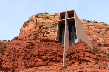 Holly Cross Chapel at Sedona designed Franl Lyoid