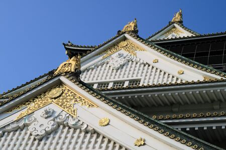 cupper: Osaka Castle looking up from the bottom