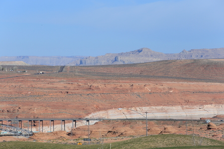 Landscape around Glen canyon dam, Page, AZ