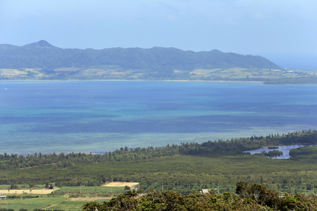 Landscape from the lookout at  the summit of Banna Stock Photo