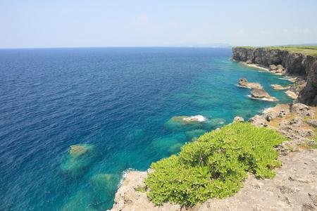 Maeda cape, Okinawa island in summer Stok Fotoğraf