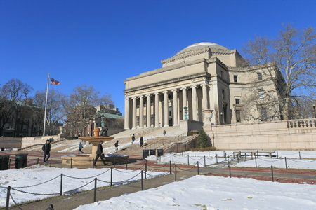 Columbia University, Winter Scenery in New York