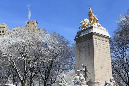 Winter Scenery in New York, Central Park Stock Photo
