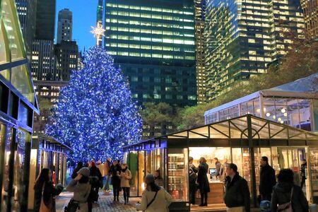 Bryant park Christmas tree, Christmas season in Manhattan