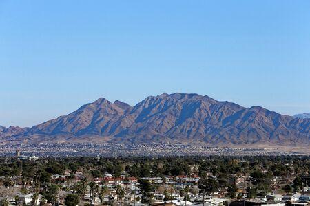 nevada: Las Vegas landscape from LAS Airport