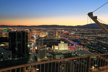 Las Vegas landscape from Stratosphere tower Editorial
