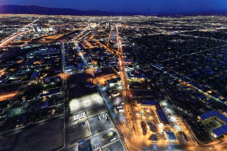 nevada: Las Vegas landscape from Stratosphere tower Stock Photo