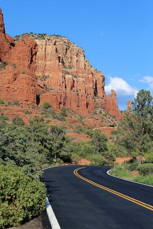 Town landscape at Sedona, Arizona, USA
