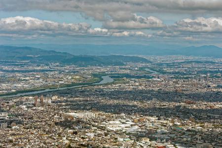 Osaka Plain and the cityscape