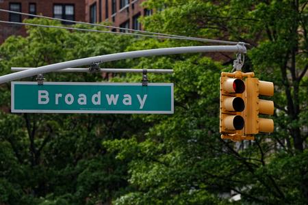 Road sign of Broadway in Manhattan
