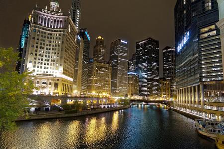 Nightscape in Chicago