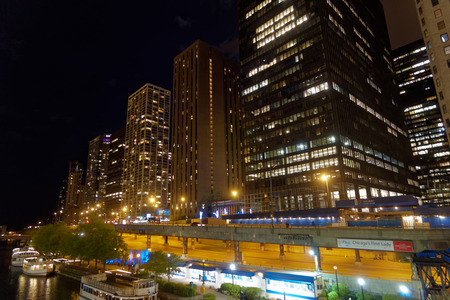 Nightscape in Chicago