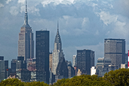 New York Cityscape viewed from LGA airport