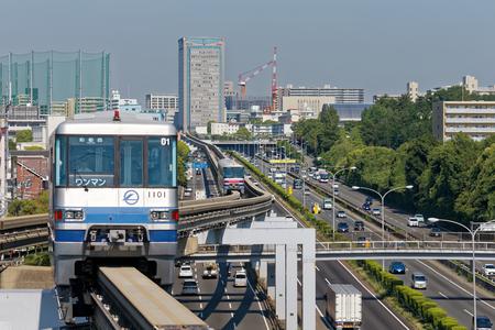 Osaka Mono Rail, at Senri-chuo station