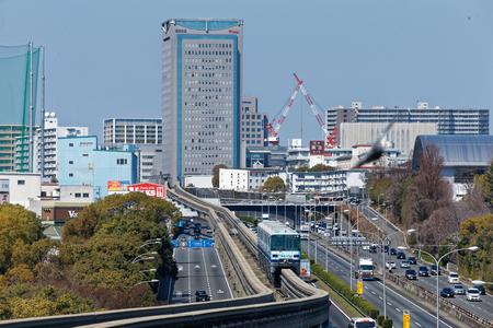 Osaka Monorail at Yamada Sta...