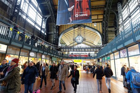 Hamburg, Germany-May 5, 2019: Hamburg Main Station Editorial