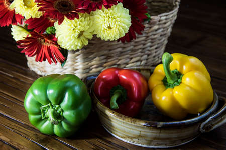 bellpepper: Bell Peppers and flowers