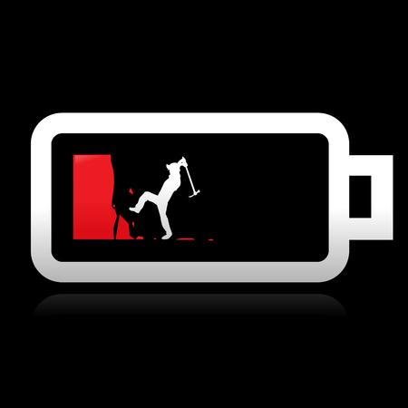 low battery: Energy concept art - vector illustration Illustration