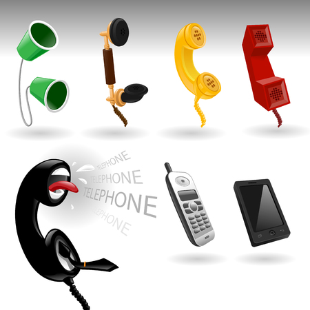 icon set mobile   Telephone - vector Illustration  Vector