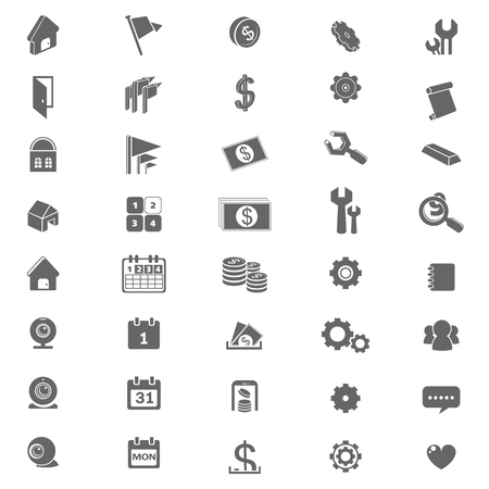 popup: icon set for mobile application or website  - vector Illustration