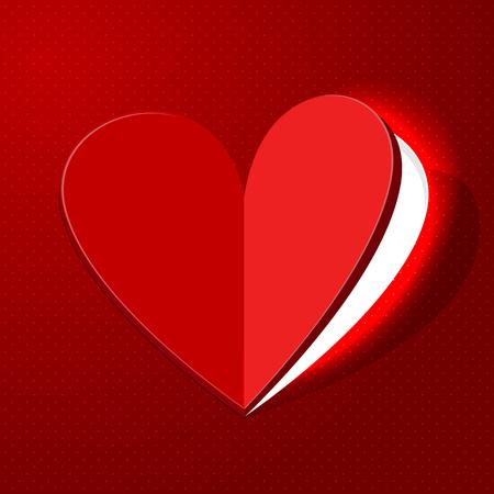 red door: Heart for valentine day  - vector Illustration Illustration