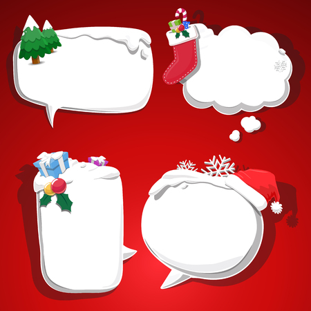 input your text on bubble snow  - vector Illustration