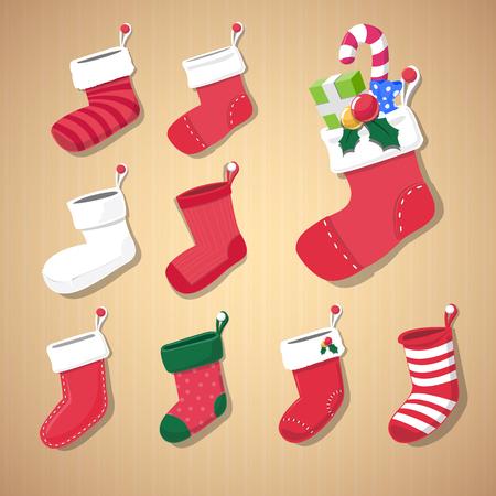 christmas sock: Natale Sock - illustrazione vettoriale