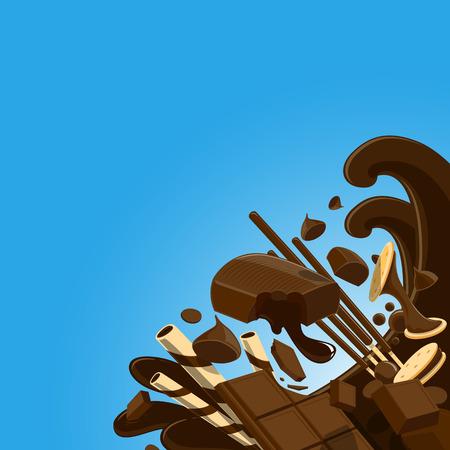Funny Chocolate - vector Illustration 向量圖像