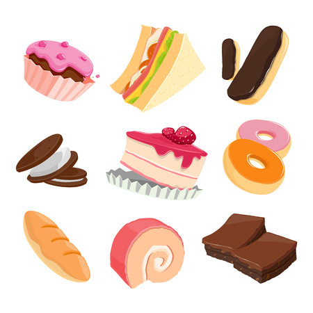 Sweet and Bakery - vector Illustration Ilustração