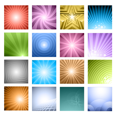 force of the wind:  backgrounds set - vector Illustration Illustration