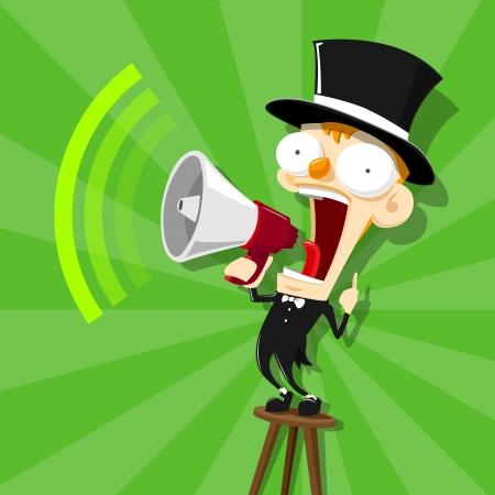 announcer man - vector Illustration 向量圖像