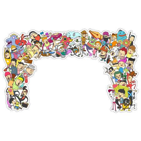 cartoon doodle  - vector Illustration 向量圖像