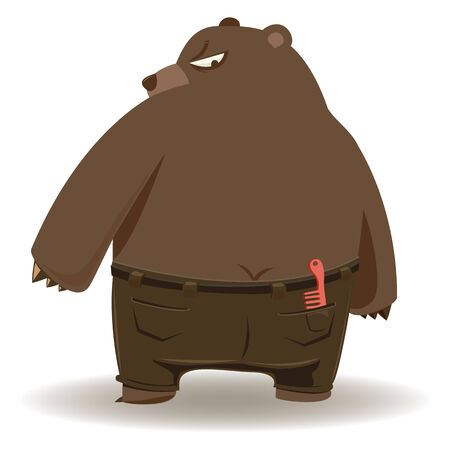 i m a Bad bear    - vector Illustration Фото со стока - 25503675