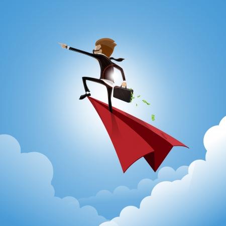go ahead businessman - vector Illustration Ilustração