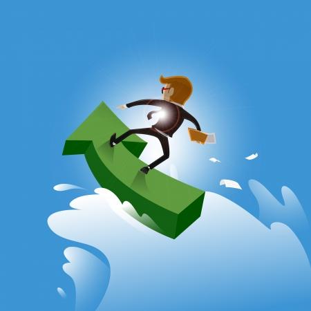 seguir adelante: seguir adelante empresario - vector Ilustraci�n Vectores