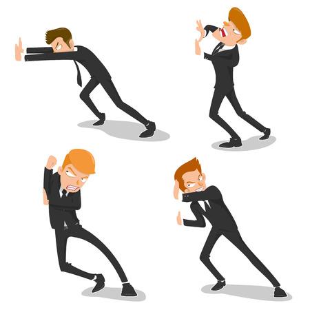 defence team  - vector Illustration