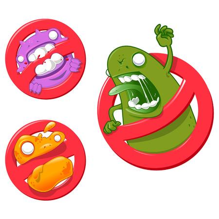 pathogen: Virus Un-ti - vector Ilustraci�n