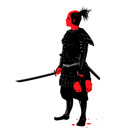 Samuria warrior  - vector Illustration
