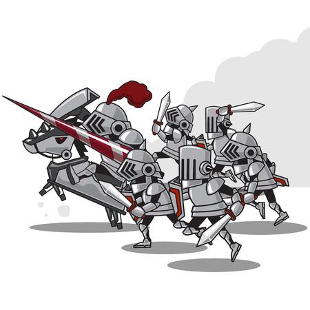 valiant: Knight Attack   - vector Illustration